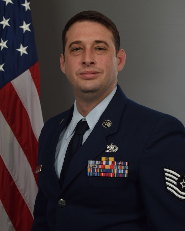 Tech. Sgt. Jason McNew, 403rd Maintenance Squadron aerospace ground equipment technician, official photo. McNew won the 403rd Wing 2019 NCO of the Year award. (Courtesy photo)