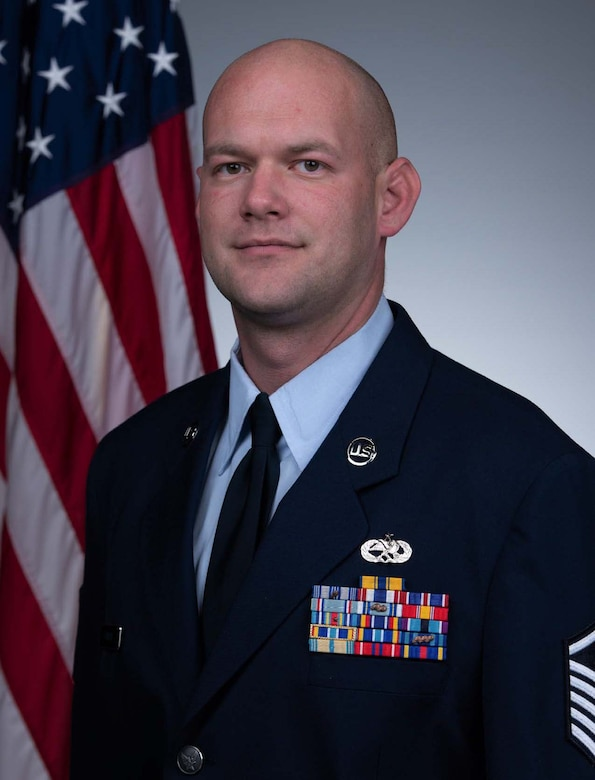 Master Sgt. Robbie Kinman, 803rd Aircraft Maintenance Squadron aerospace propulsion shop supervisor, official photo. Kinman won the 403rd Wing 2019 SNCO of the Year award and the Chief Master Sgt. Charles Gaffney Award. (Courtesy photo)