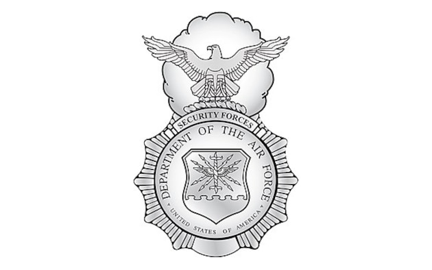 Graphic of the Security Forces badge in silver