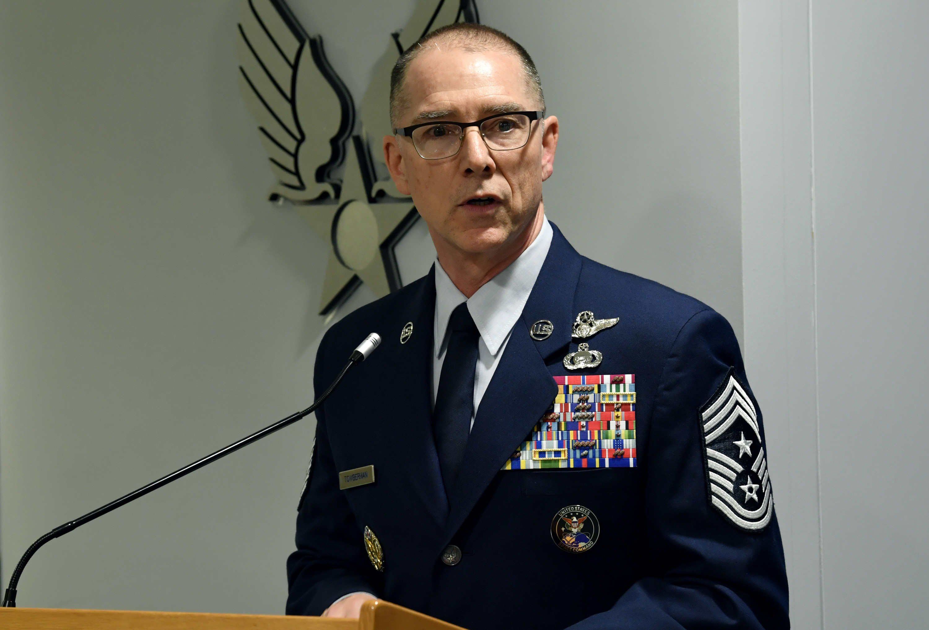 Chief Master Sgt. Roger A. Towberman. (U.S. Air Force photo by Wayne Clark)