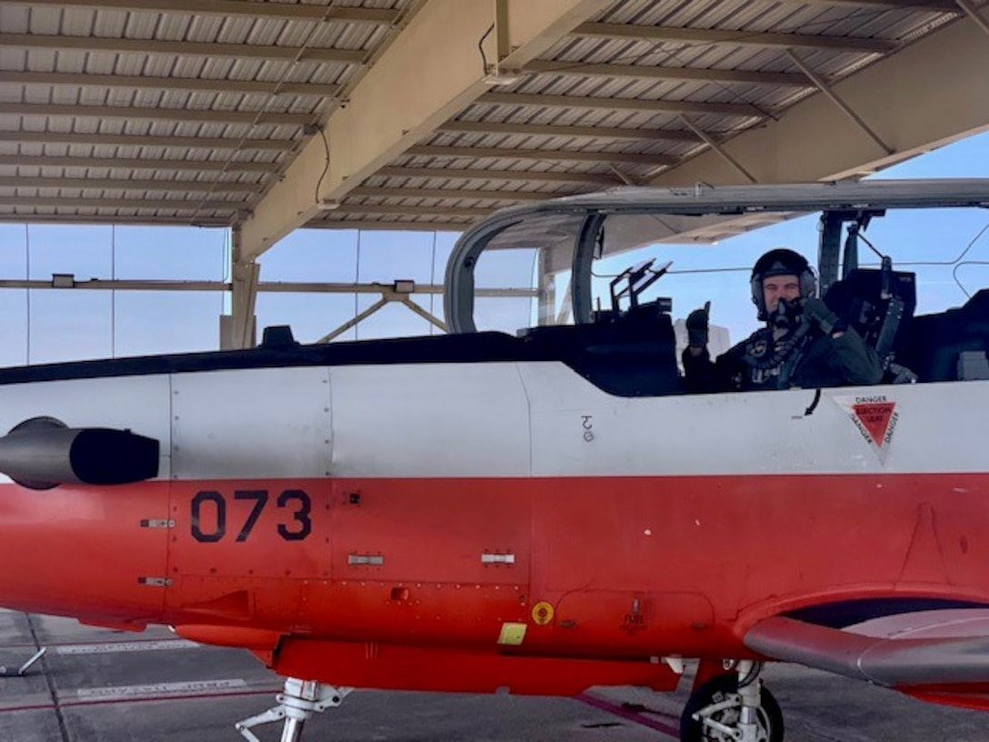 Pilot in T-6 Texan II