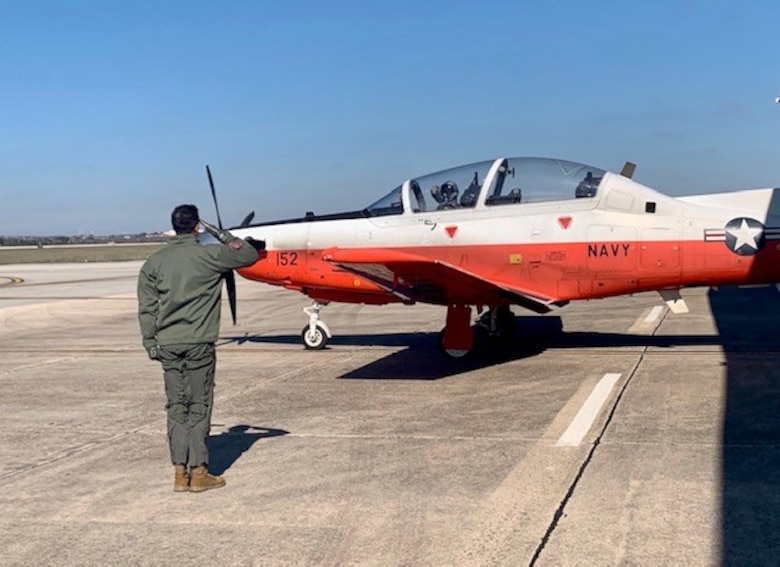 Pilot Training Next third iteration marked a milestone for their third iteration as two students fly their first solos here Feb. 14, 2020.