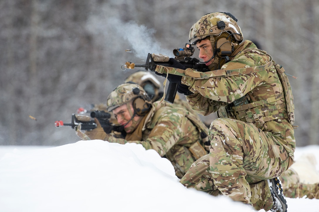 Airmen engage simulated opposing forces
