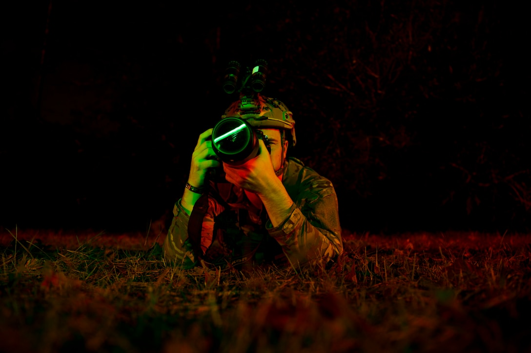 Senior Airman practices low-light photography