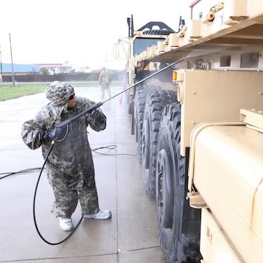 851st TC prepares vehicles for DEFENDER-Europe 20