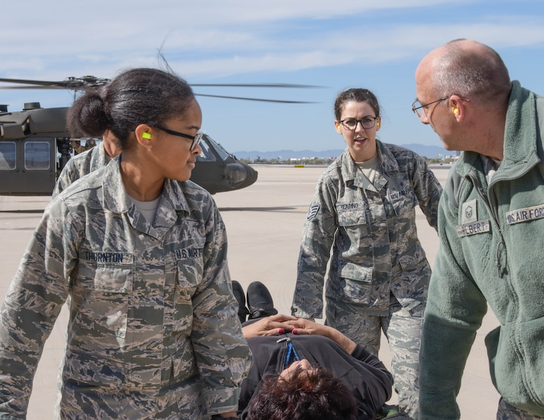 Nurses, pharmacy technicians and flight doctors were among the squadron members who participated in the National Disaster Medical System training exercise.