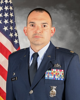 Major Derek Gregory is the commander, 422nd Civil Engineer Squadron.