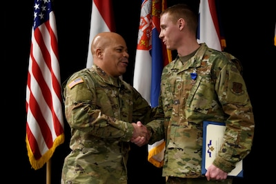 National Guard Airman receives Ohio Cross for rescuing woman