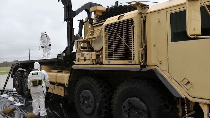 851st Transportation Company prepares vehicles for DEFENDER-Europe 20