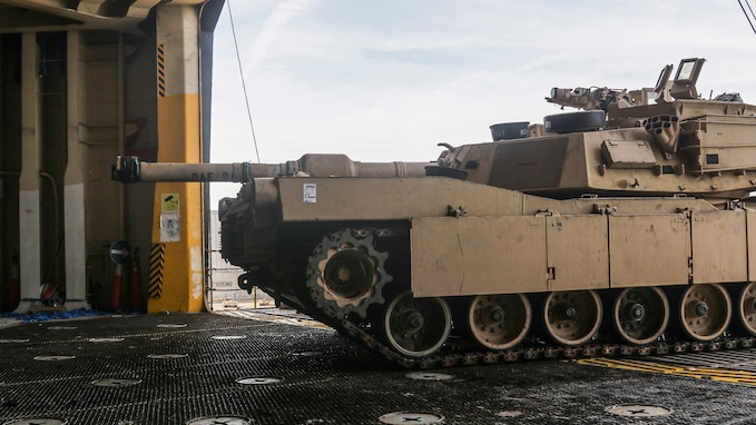 3rd Infantry Division loads equipment in Savannah, Georgia for DEFENDER-Europe 20