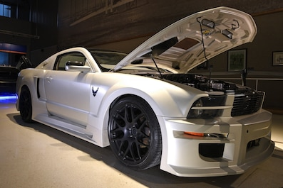 Ford Mustang car custom built for Air Force Recruiting.