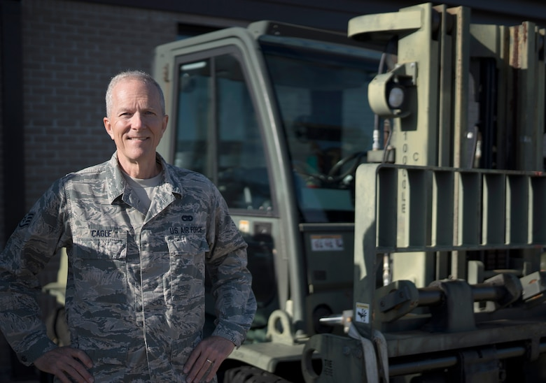 Staff Sgt. Jim Cagle, air terminal operations center controller in the 41st Aerial Port Squadron at Keesler Air Force Base, Mississippi. Prior to his five years with the 403rd Wing, Cagle served as a weapons system officer and fighter pilot in the Louisiana Air National Guard from 1980 to 1993. (Senior Airman Kristen Pittman)