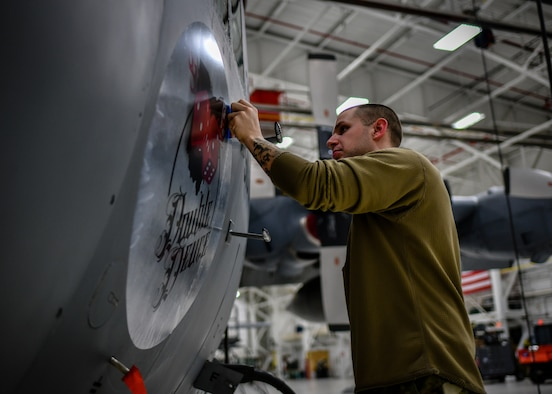 A 910th Airlift Wing C-130H Hercules aircraft received new nose art Feb. 4, 2020.