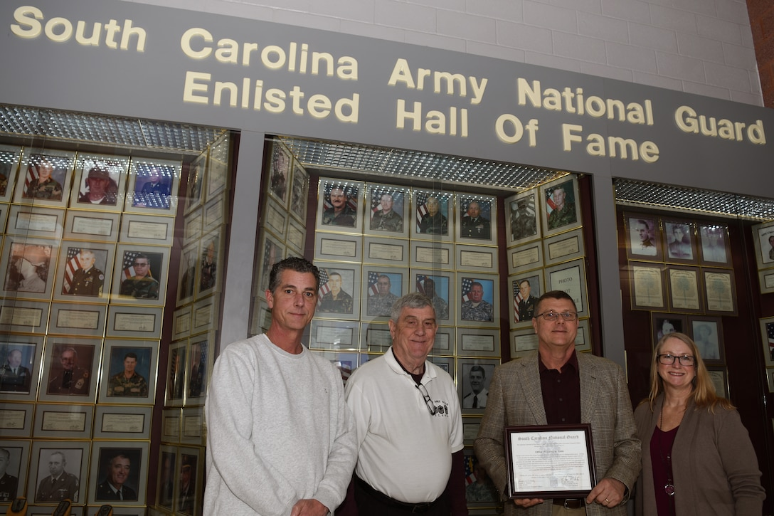 CMSgt. (retired) Lanny Cobb is inducted into the SCNG Enlisted Hall of Fame