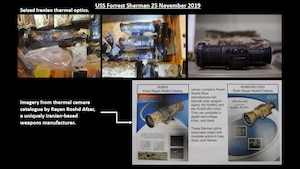 Thermal optic weapon sights seized by the USS FORREST SHERMAN in November.