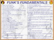 Gen. Paul E. Funk II, Commanding General, U.S. Army Training and Doctrine Command, has compiled 40 guiding principles he considers fundamental to successful service. He calls these principles, Funk's Fundamentals. (U.S. Army courtesy graphic)