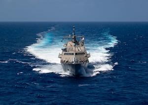 USS Little Rock (LCS 9) underway in the Caribbean Sea.