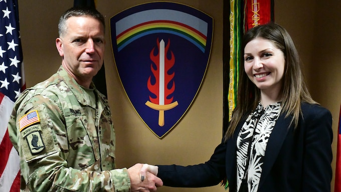 U.S. Army Europe welcomes its first Romanian national employee