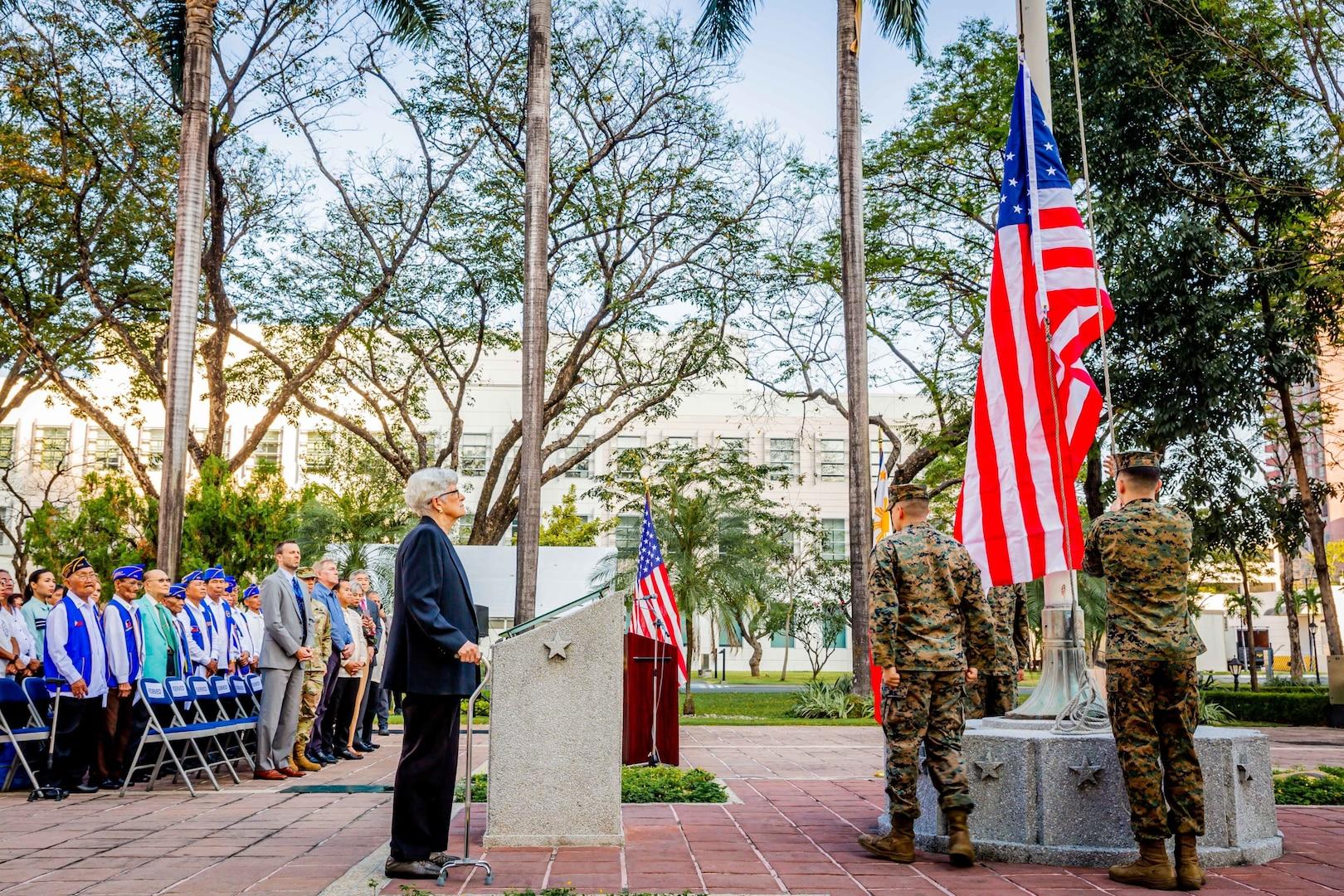 U.S. Embassy Commemorates 75th Anniversary of U.S. Flag Raising after Battle of Manila