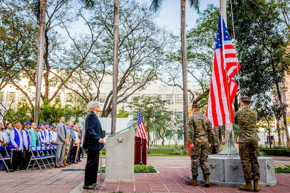 U.S. Embassy Commemorates 75th Anniversary of U.S. Flag Raising after Battle of Manila