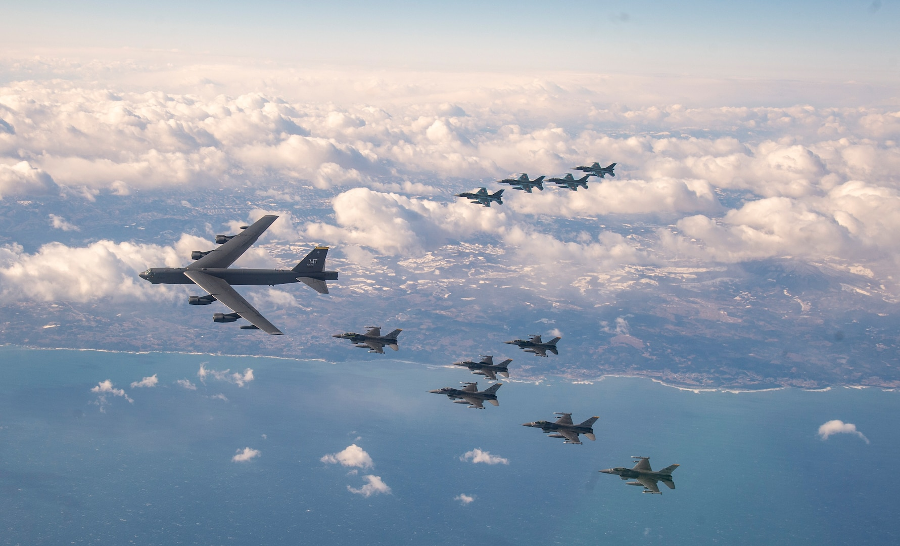 Misawa F-16 Pilots Integrate with Bombers, Koku Jieitai Counterparts