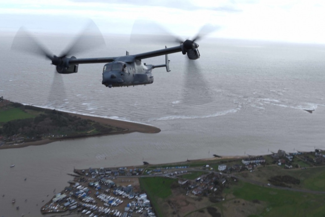 The flypast was conducted to remember eight American airmen who died when a World War Two bomber crashed.
