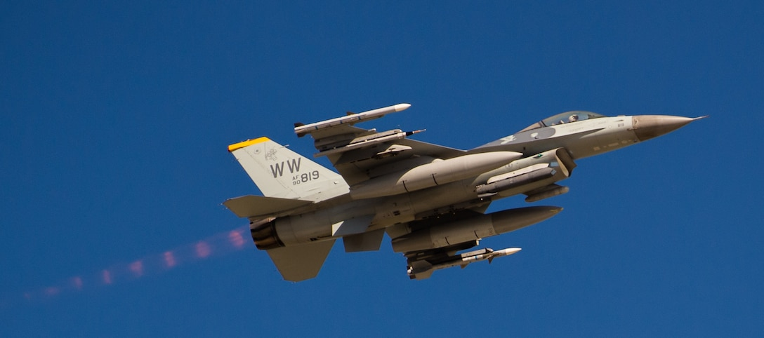 An F-16 Fighting Falcon during exercise Cope North 20