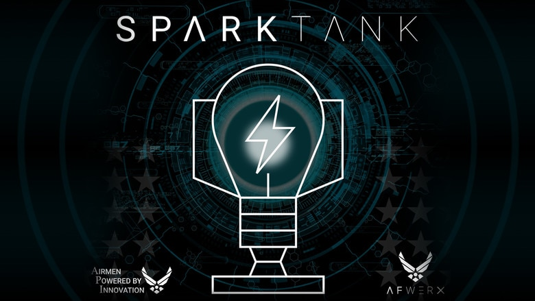 Spark Tank is an annual competition where Airmen pitch innovative ideas to top Air Force leadership and a panel of industry experts. Key project themes include improved task management, commercial best practices for healthcare, workforce development, automation, suicide prevention and detection, and maintenance and airfield assessment innovation. (U.S. Air Force courtesy graphic)