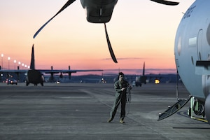 a man on a flightline