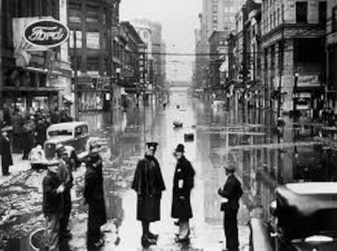 Old Photo of Pittsburgh Flooding in 1936