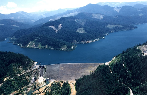 Hills Creek Dam is one of 14 flood risk management dams managed by the U.S. Army Corps of Engineers in the Willamette Valley, Oregon.