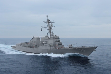 PASCAGOULA, Miss. (Feb. 22, 2020) The future USS Delbert D. Black sails in the Gulf of Mexico for builder's trials in late February. The Flight IIA Arleigh Burke-class destroyer successfully completed builder's trials Feb. 22 and will be underway again in March for acceptance trials.