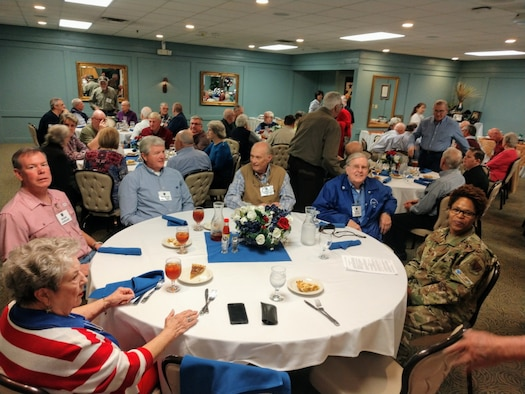 Retirees from the South Carolina Air National Guard gather for their monthly luncheon at the Fort Jackson NCO Club on Feb. 7, 2020.