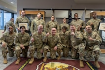 Six U.S. Army medical recruiters assigned to the 5th Medical Recruiting Battalion were presented Army Recruiter Rings by Army Maj. Gen. Frank M. Muth, commanding general, U.S. Army Recruiting Command at the 5th MRBn headquarters Feb. 24.
