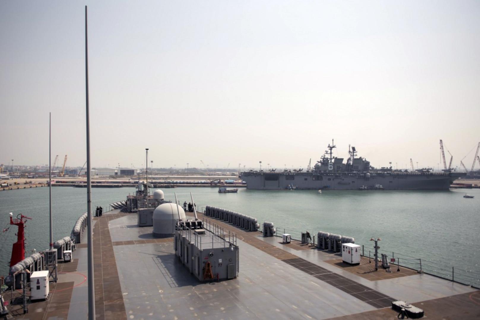 Blue Ridge, 7th Fleet Staff Arrive in Thailand