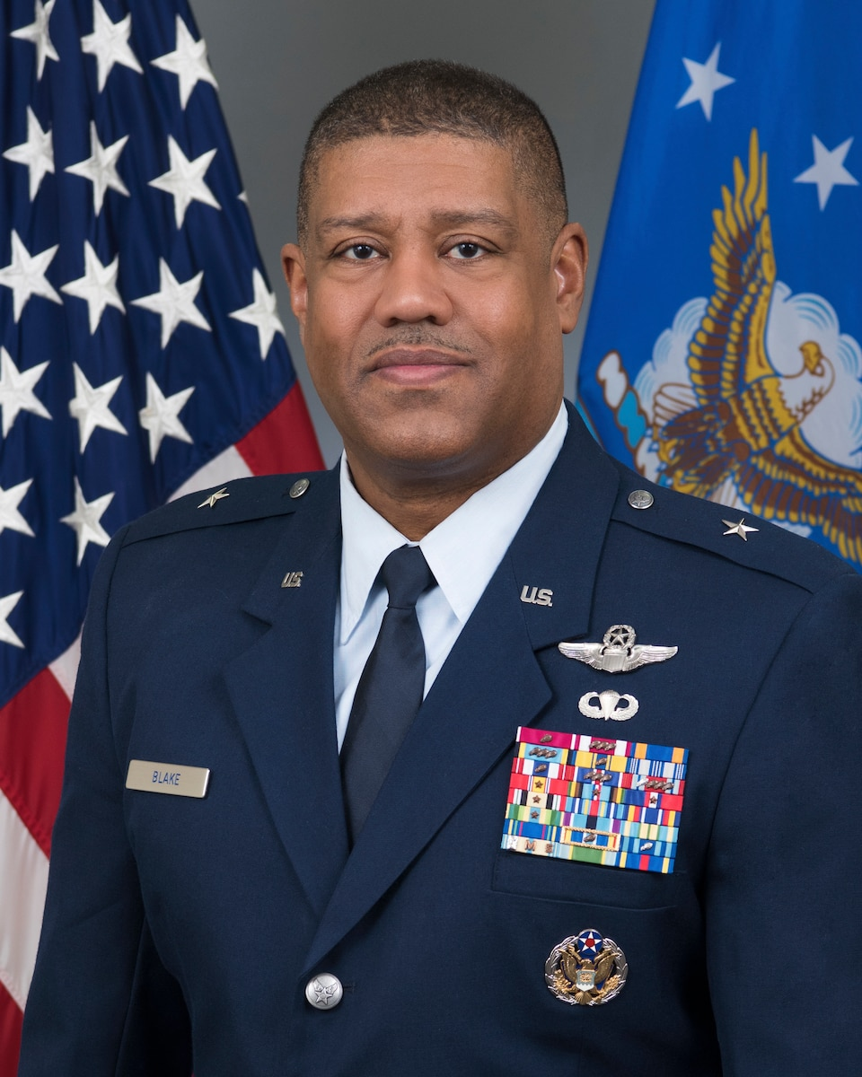 This is the official portrait of Brig. Gen. Robert M. Blake.