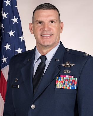 Official Air Force photo for Col. Leon J. Dodroe. Dodroe is the commander of the 188th Wing, Arkansas Air National Guard.