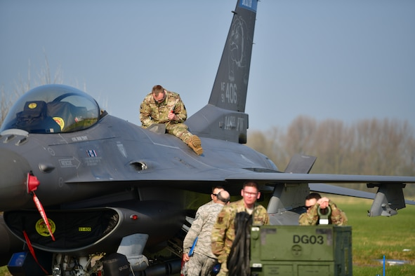 148th Fighter Wing participate in Frisian Flag 2019