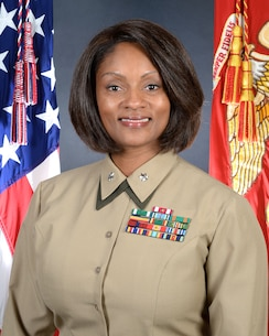 Lt. Col. Latresa Steward's current role is executive officer for Marine Force Storage Command and Headquarters Group, which are subordinate commands to Marine Corps Logistics Command at MCLB Albany. It involves supporting fellow Marines and their families, administrative oversight of command programs, legal and personnel issues and coordinating with the staff for day-to-day operations in support of the commanding officer. (U.S. Marine Corps photo by Re-Essa Buckels)