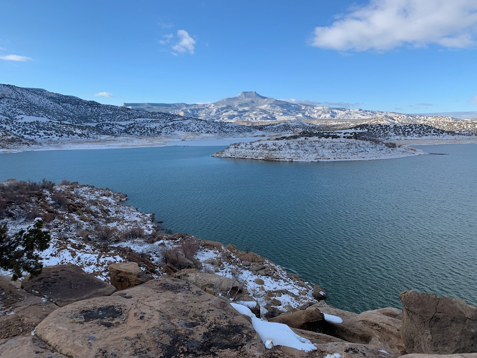 View of Cerro Pedernal from the south end of Abiquiu Lake, Feb. 12, 2020. Photo by Al Garcia.