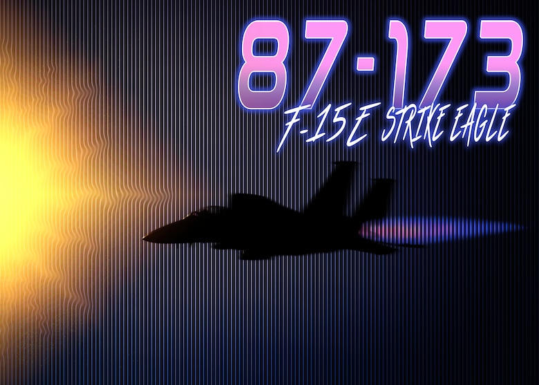 "This U.S. Air Force graphic represents the F-15E Strike Eagle, tail number 87-173, assigned to the 389th Fighter Squadron at Mountain Home Air Force Base, Idaho. Jet 173 was the lead jet during the longest sortie performed by a fighter jet in mission called the ""Kabul-ki Dance"" Nov. 12, 2001, during Operation Enduring Freedom. This mission lasted over 15 hours and required 10 in-air refuelings while evading enemy attacks to, ultimately, take out several critical targets.  (U.S. Air Force graphic by Airman 1st Class Andrew Kobialka)"