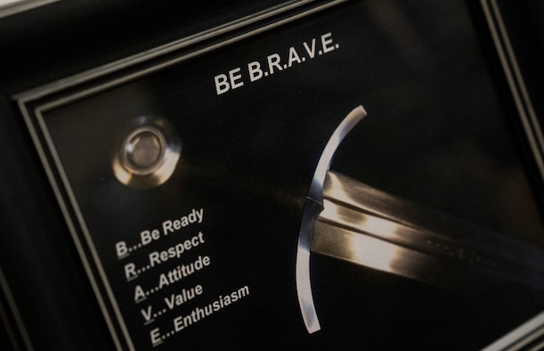 "Sign that reads ""Be Brave"""