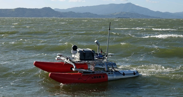 The MARV II surveys the water.