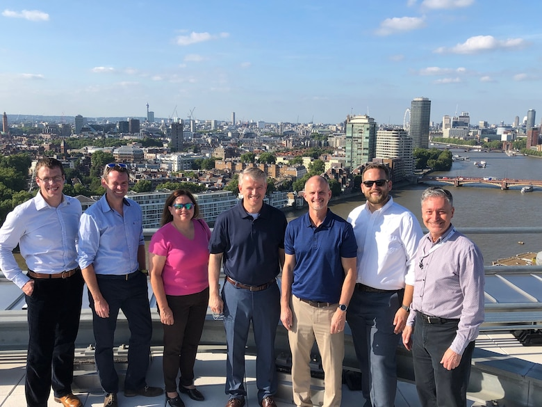 Before visiting UK partners this week, ERDC Leadership stopped by the US Embassy for a building tour focused on innovative technologies in this state-of-the-art building.