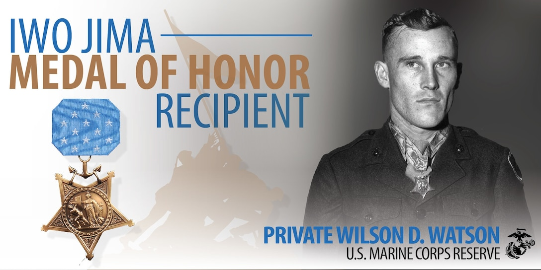 """Private Wilson """"Doug"""" Watson was awarded the Medal of Honor by President Harry S. Truman at the White House Oct. 5, 1945, for his actions on Feb. 26-27, 1945."""