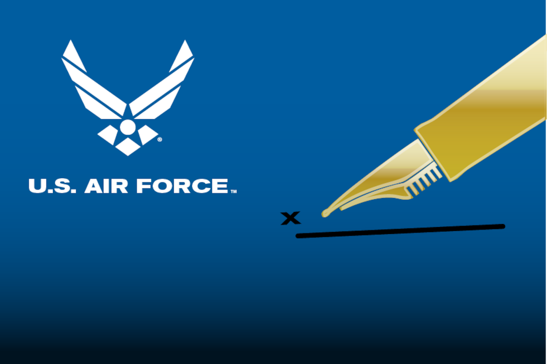 Slide to link to information on becoming an Air Force licensee.