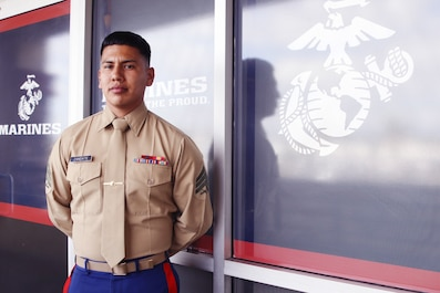 RIVERSIDE, Calif. – Being thrown into an emergency can be frightening and confusing, especially when a person's life is at risk. That is something U.S. Marine Corps Sgt. Thomas Zandate, a recruiter out of Recruiting Substation Pomona, Recruiting Station Riverside, 12th Marine Corps District, can tell you firsthand when he noticed a man in need of medical attention. On February 20, 2020, Zandate's heroic actions saved a man's life in a parking lot off of Rio Rancho Rd. in Pomona, Calif.