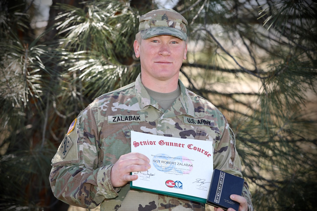 Army Reserve Soldier graduates newly formed Senior Gunner Course with top honors