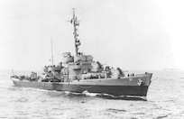 A scan of a photo of USCGC Taney