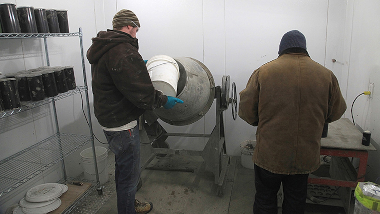 11 Sept Ben and his co-worker creates concrete in freezing temperatures